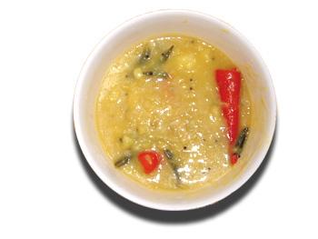 Mashed potato curry